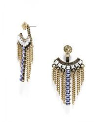 BaubleBar | Metallic Tanzanite Warrior Fringe Ear Jackets | Lyst
