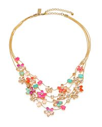 kate spade new york | Multicolor Multistrand Floral Necklace | Lyst