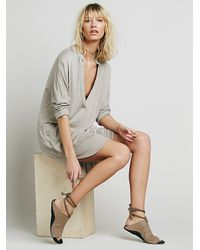 Free People - Gray Gallery Dress - Lyst