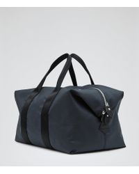 Reiss - Blue Channing Textured 24 Hour Holdall for Men - Lyst