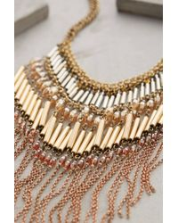 Anthropologie | Natural Mireya Fringe Necklace | Lyst
