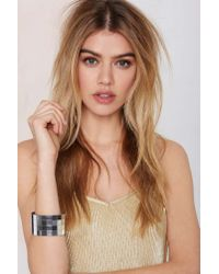 Nasty Gal | Metallic Suzywan Deluxe Disco Doll Tiled Bangle | Lyst