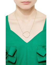 Kimberly Mcdonald - Pink Diamond Geode Outline Pendant - Lyst