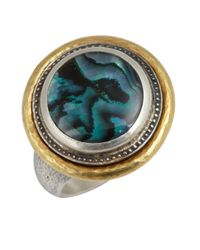 Gurhan | Metallic Paua Shell And Silver 'gauntlet' Ring | Lyst