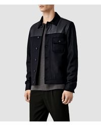 AllSaints - Blue Dixon Jacket for Men - Lyst