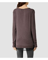 AllSaints - Purple Miro Long Sleeved Top Usa Usa - Lyst