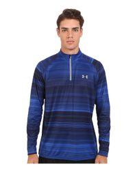 Under Armour - Blue Ua Tech® Printed 1/4 Zip for Men - Lyst