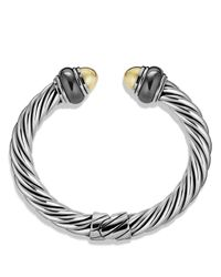 David Yurman | Metallic Cable Classics Bracelet With Gold Domes & Hematine | Lyst