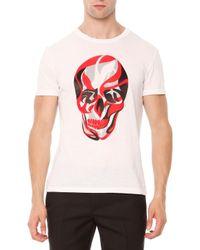 Alexander McQueen - Multicolor Skull-print Jersey Tee for Men - Lyst