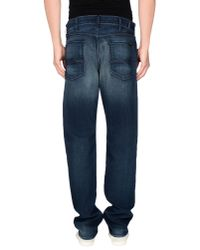 7 For All Mankind - Blue Denim Trousers for Men - Lyst