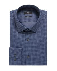 BOSS - Blue 'jenno' | Slim Fit, Italian Cotton Dress Shirt for Men - Lyst