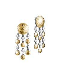 John Hardy - Metallic Palu Gold/Silver Chandelier Earrings - Lyst