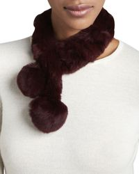 Belle Fare - Purple Rabbit Fur Neck Warmer - Lyst