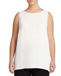 Lafayette 148 New York | Black Merryn Sleeveless Silk Blouse | Lyst