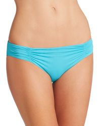 L*Space | Blue Shirred Bikini Bottom | Lyst