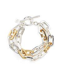 Lauren by Ralph Lauren - Metallic Multistrand Link Bracelet - Lyst