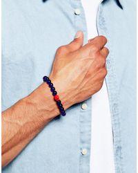 Paul Smith   Blue Beaded Bracelet for Men   Lyst