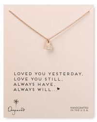 Dogeared | Metallic Loved You Yesterday Necklace, 18"