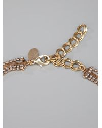 Erickson Beamon - Metallic Crystal Necklace - Lyst