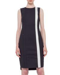 Akris Punto - Black Sleeveless Techno Fabric Shift Dress - Lyst