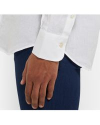 Canali | White Linen Shirt for Men | Lyst