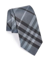 Burberry - Gray 'rohan' Woven Silk Tie for Men - Lyst