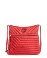 Tory Burch | Red Quilted Nylon Swingpack | Lyst