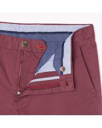 Tommy Hilfiger   Red Cotton Twill Stretch Chino for Men   Lyst