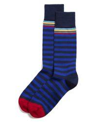 Paul Smith   Blue Multitop Stripe Socks for Men   Lyst
