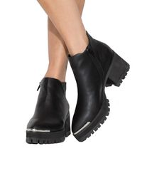 Pixie Market - Black Yru Wolf Pointed Ankle Boots - Lyst