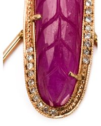Jacquie Aiche | Purple Pink Tourmaline And Diamond Hoop Earrings | Lyst