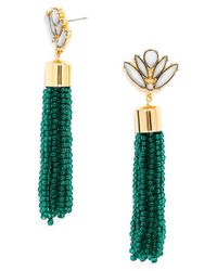 BaubleBar | Blue 'acid' Fringe Tassel Drop Earrings - Teal | Lyst