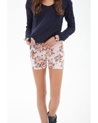 Forever 21 - Multicolor Floral Print Bike Shorts - Lyst