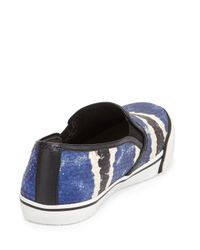 Alice + Olivia - Green Piper Slip On Sneakers - Blue Multi - Lyst