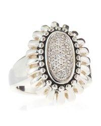 Lagos | Metallic Pret-A-Porter Diamond Oval Ring | Lyst