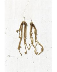 Urban Outfitters | Metallic Royal Chain Fringe Drop Earring | Lyst