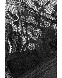Hanky Panky - Black High Shine Stretch-lace Soft-cup Bra - Lyst