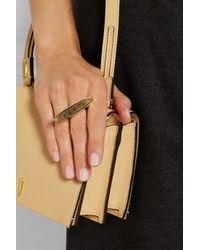 Maiyet - Metallic Concave Goldplated Rutilated Quartz Ring - Lyst