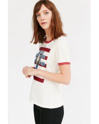 Urban Outfitters - White Music Series Ringer Tee - Lyst