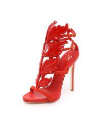 Giuseppe Zanotti - Red Metal Wing Sandals - Lyst