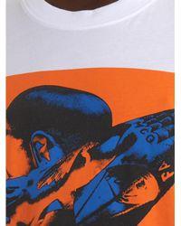 McQ - White Skinhead-Print Extra-Long T-Shirt for Men - Lyst