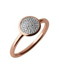 Links of London | Pink Diamond Essentials Pave Ring - Ring Size N for Men | Lyst