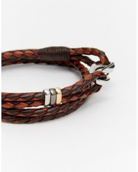 Paul Smith | Brown Leather Wraparound Bracelet for Men | Lyst