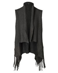 Dex | Gray Fringe-trimmed Sweater Vest | Lyst