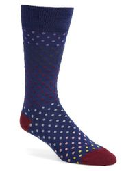 Paul Smith - Blue Dot Socks for Men - Lyst