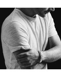 David Yurman - Metallic Meteorite Curb Chain Id Bracelet for Men - Lyst