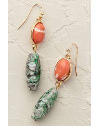 Anthropologie | Green Mykonos Lapis Earrings | Lyst