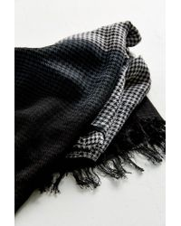 Urban Outfitters - Black 2-tone Long Brushed Scarf - Lyst