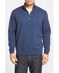 Tommy Bahama - Blue 'flip Side' Reversible Quarter Zip Pullover for Men - Lyst