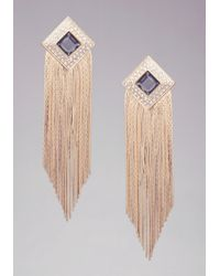 Bebe | Metallic Diamond Duster Earrings | Lyst